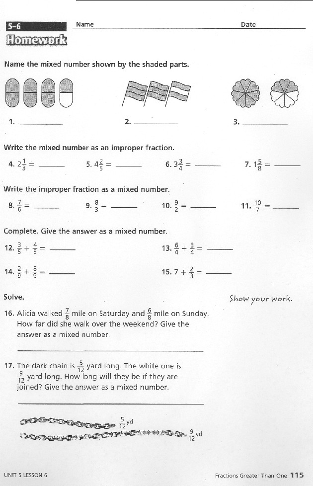 Math expressions homework and remembering grade 5 answers ...